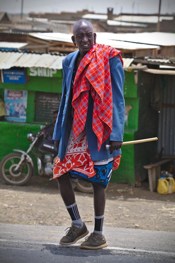 Masai is always a masai, even if wearing a jacket