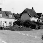 The Crossings and Well Cottage. Shows Barbara Price and her dog.
