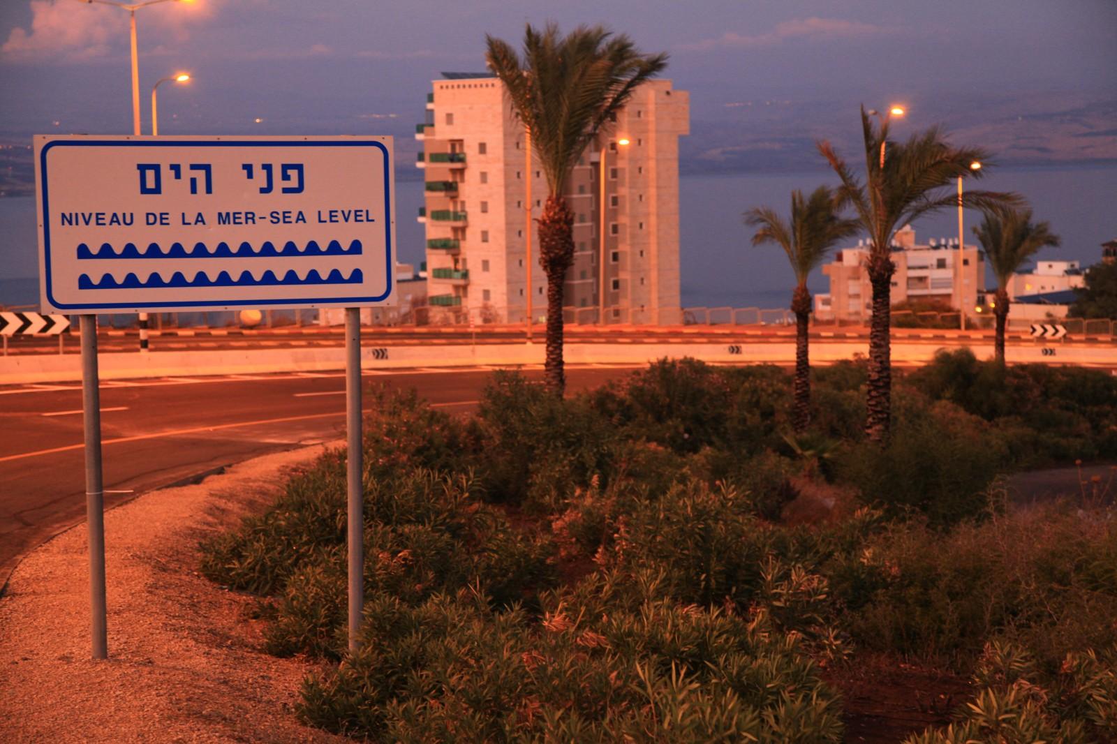 See of Galilee is 214m below sea level