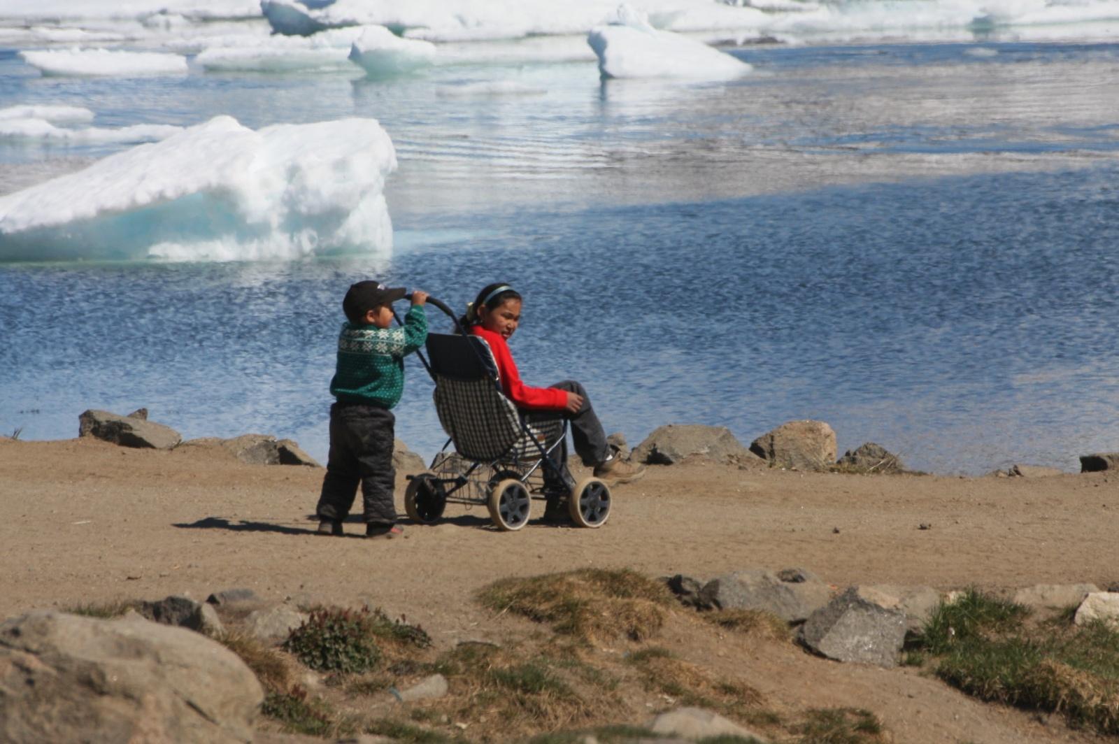 Children and ice