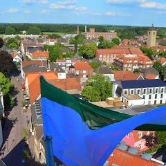 2014 Fahnen im Kirchturm hissen