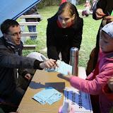 Vydávání kartiček na startu