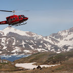 AirGreenland aircraft is approaching the heliport