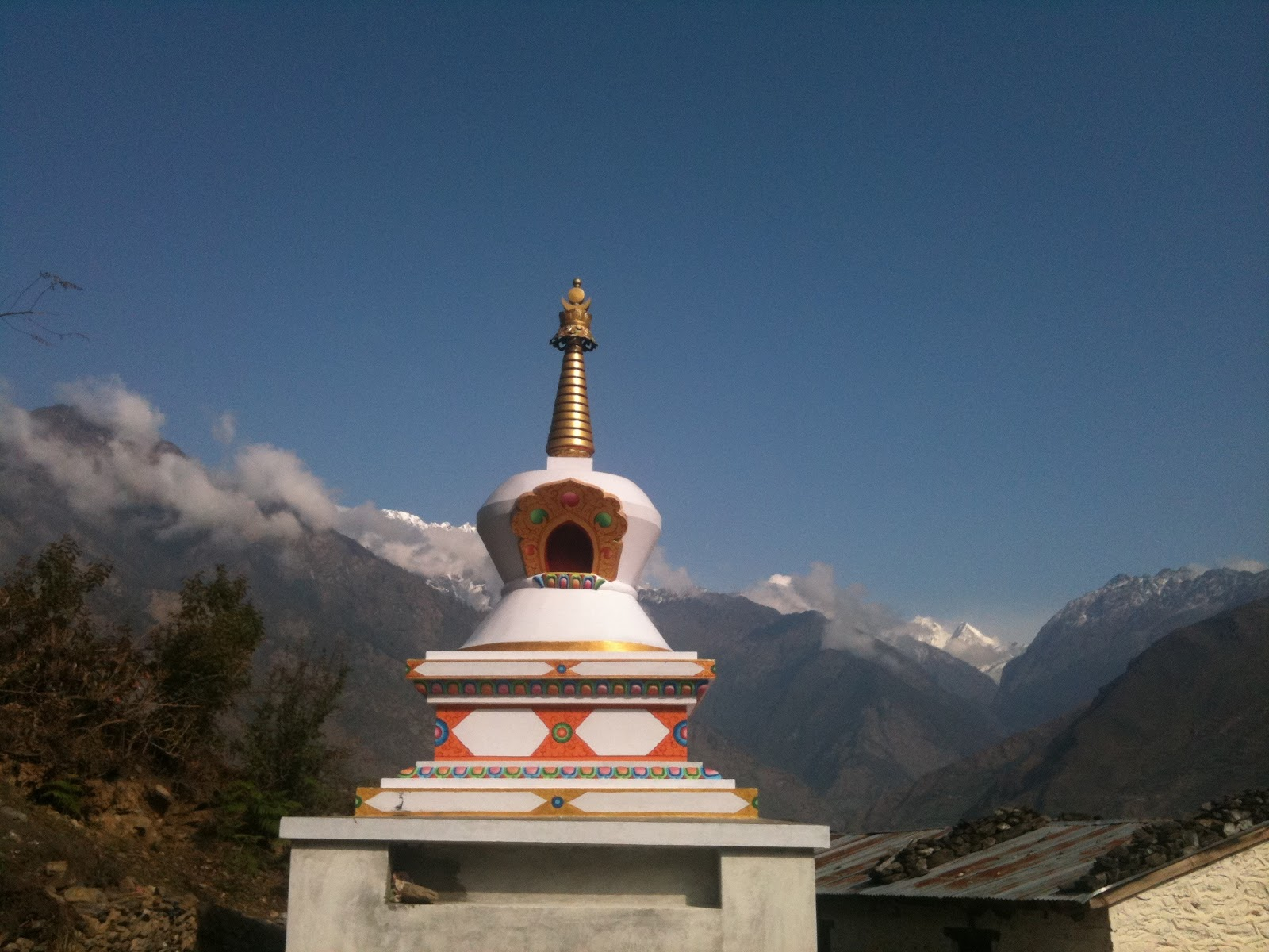 Holy objects sponsored in rural areas of Nepal