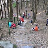 Soutěž ve vybíhání schodů bez nadechnutí