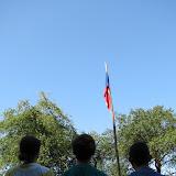 Čtrnáctý den - ranní nástup a vyvěšování státní vlajky
