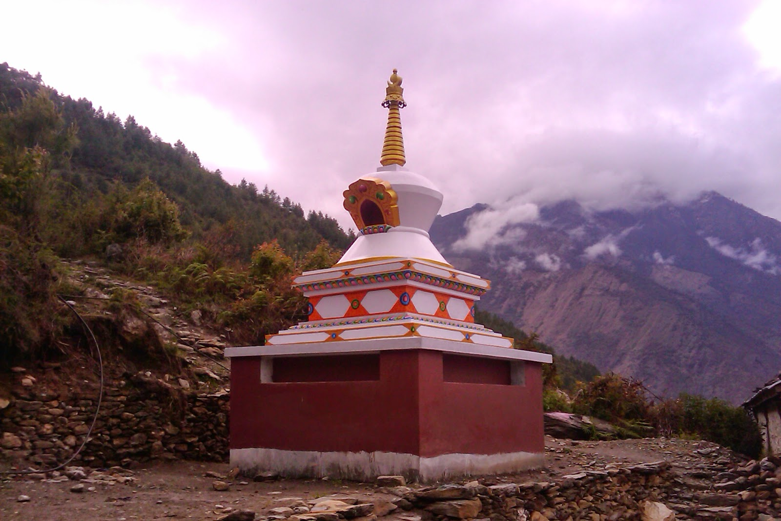 Stupa, Rasuwa District, Nepal (built by Losang Namgyal Rinpoche)