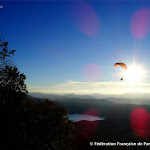 Parapente en fin de journée, photo David Degrelle