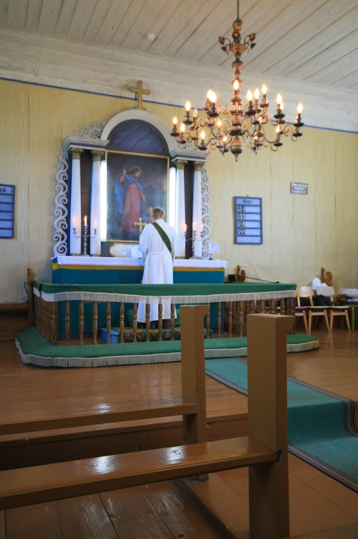 The priest is preparing to the Sunday's religious service
