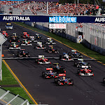 2011 Australian F1 GP start