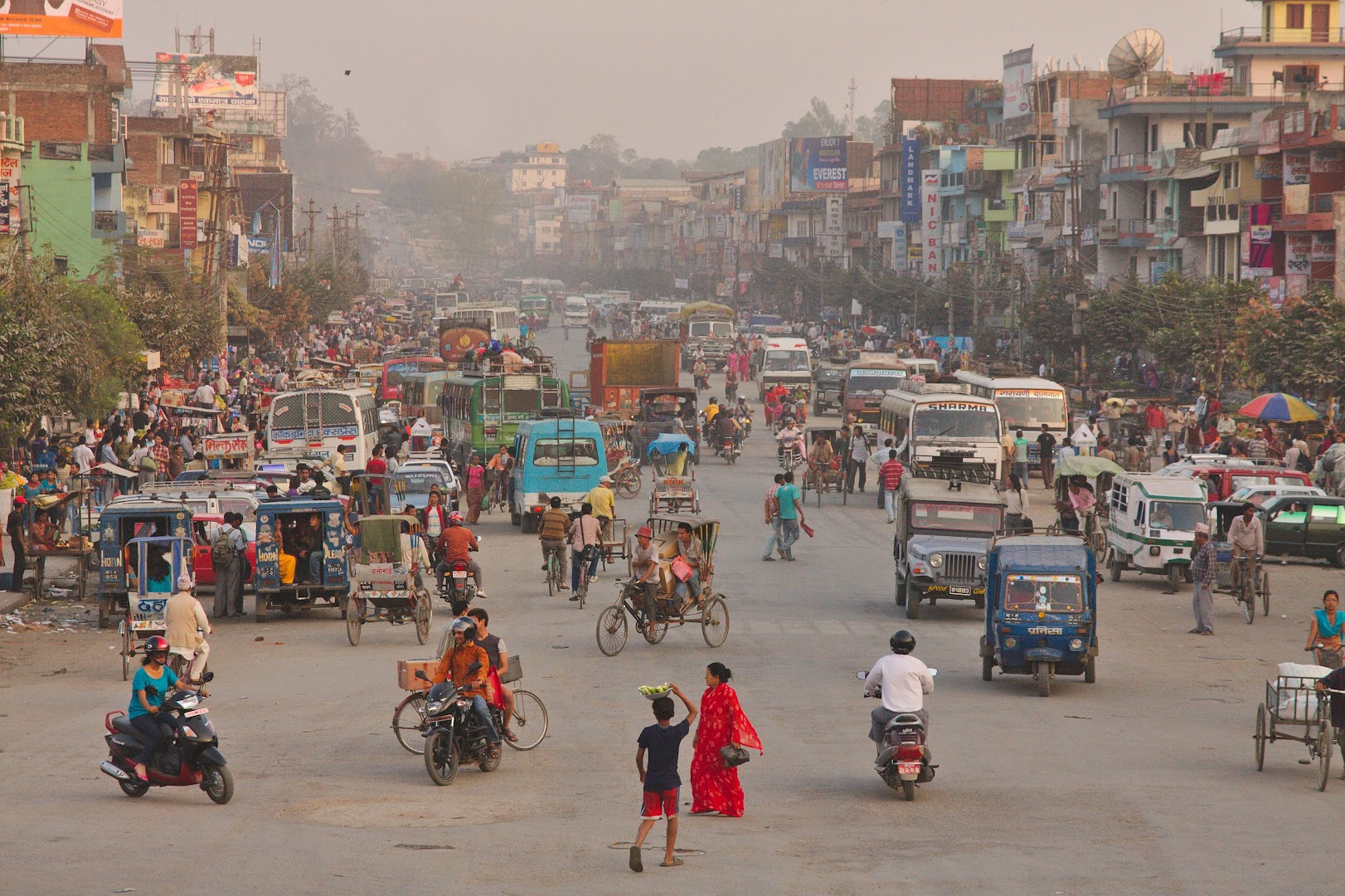 Busy Nepalese street