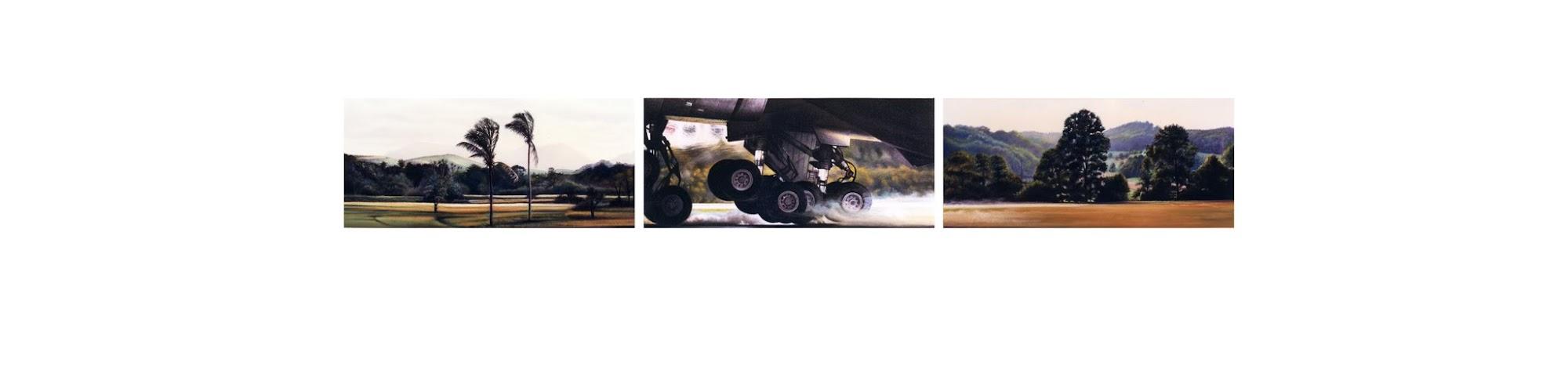 Landschaftung   1986   Aquarell / Pastell auf Papier   18 x 120 cm