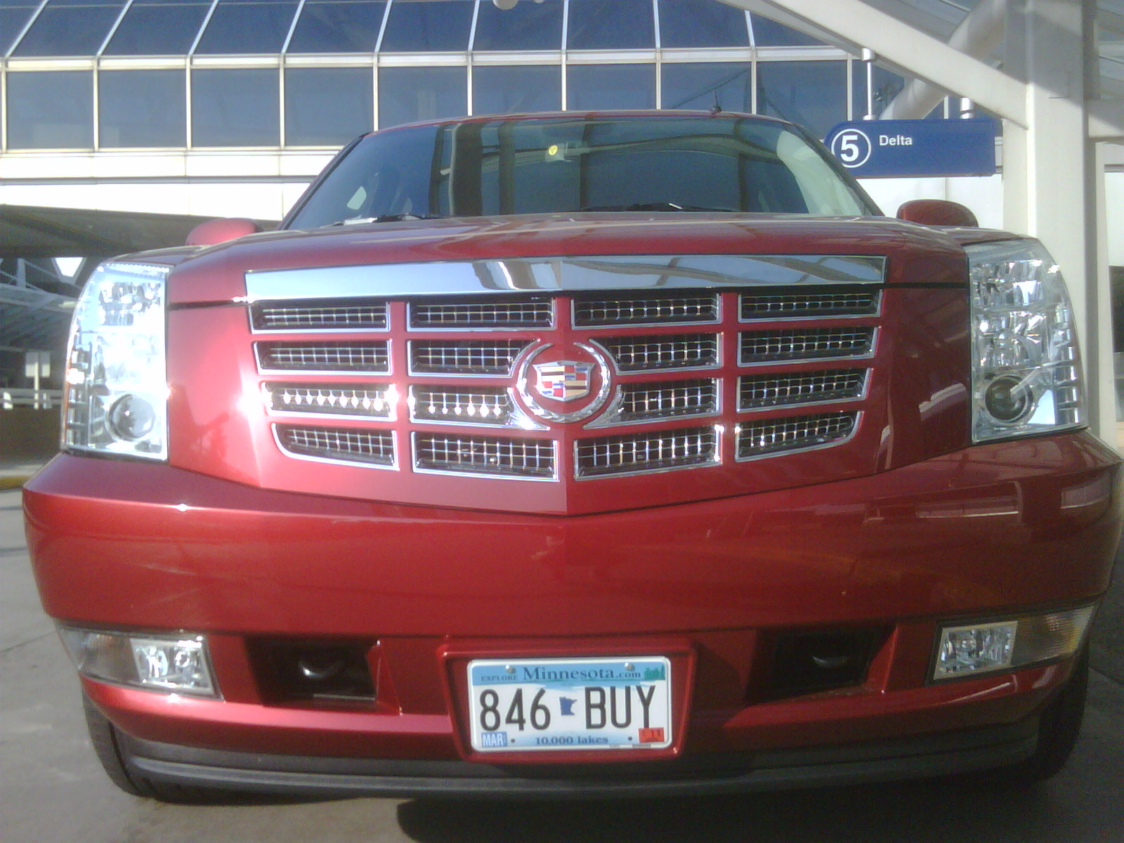 Our ride while stuck in Minneapolis: 6.2l V8 Escalade