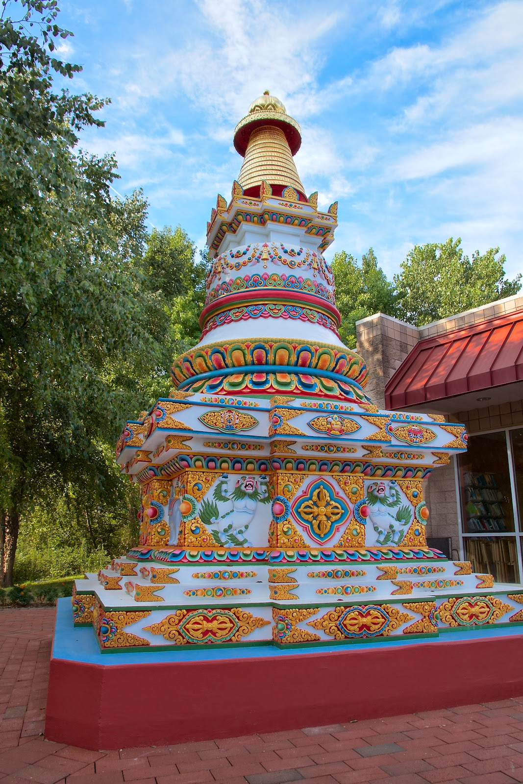 Kadampa Center's Kadampa Stupa. Raleigh, NC, USA. Photo by David Strevel.