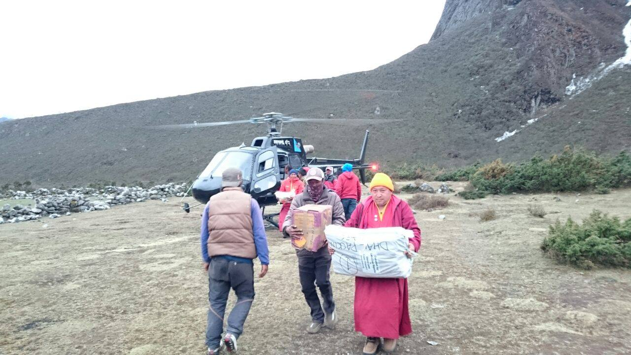 Aid reaching Solu Khumbu. Photo by Charok Lama.