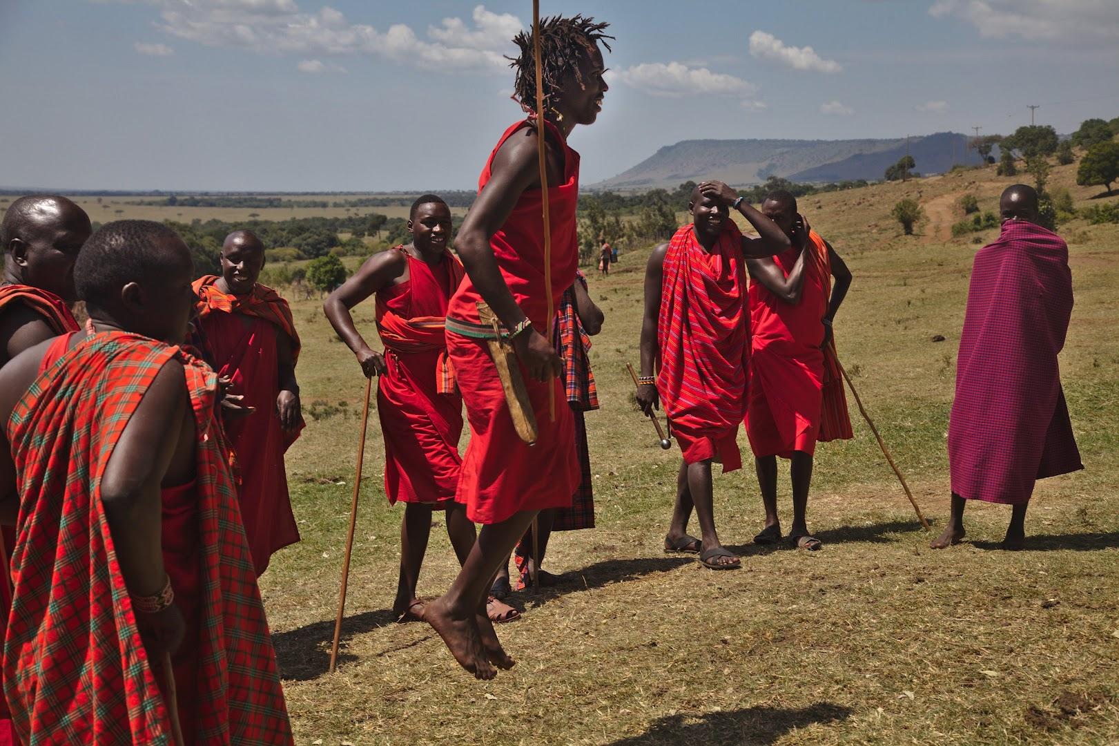 Traditional Masai jumping-dance
