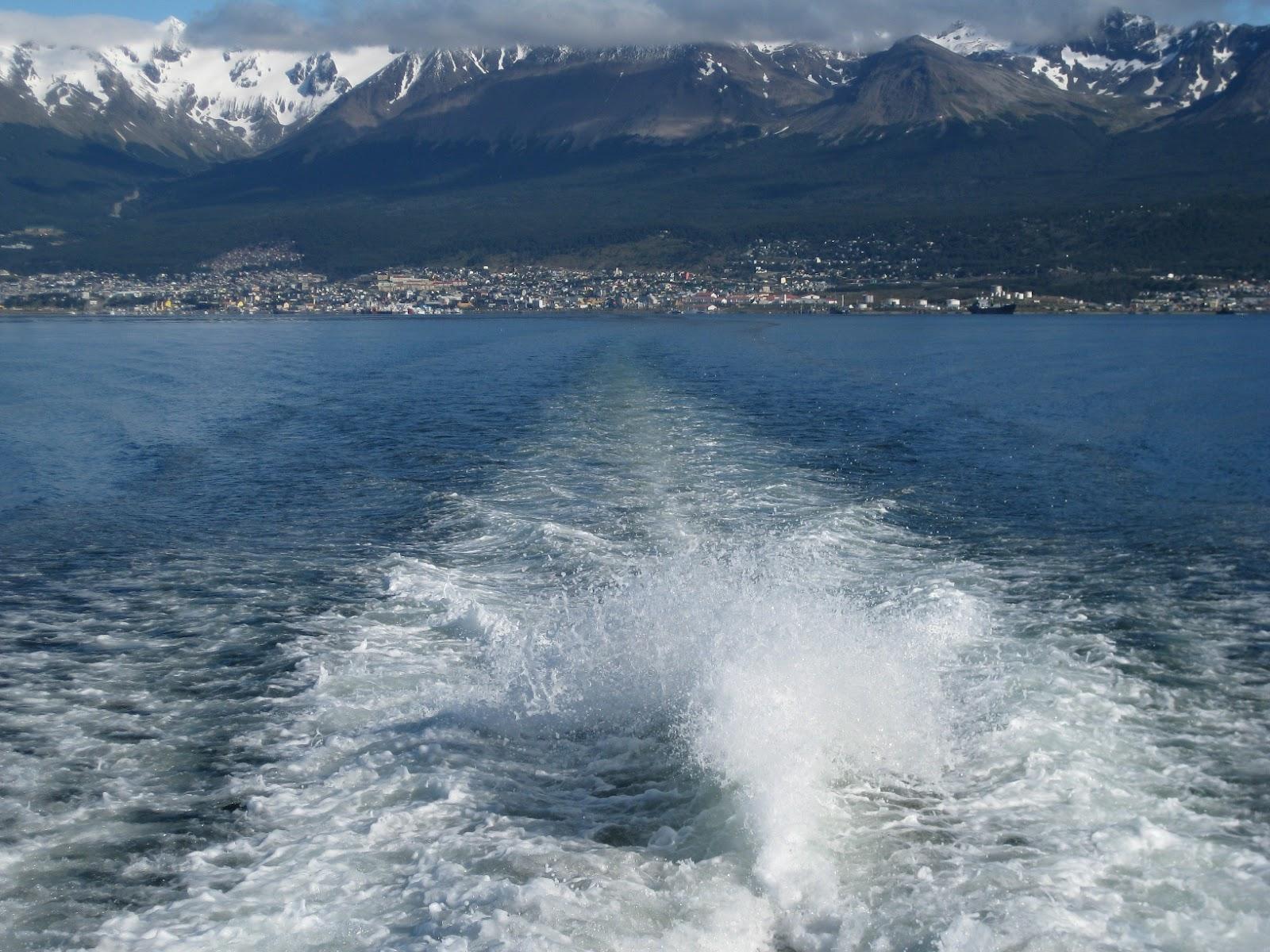 Cruising out of Ushuaia