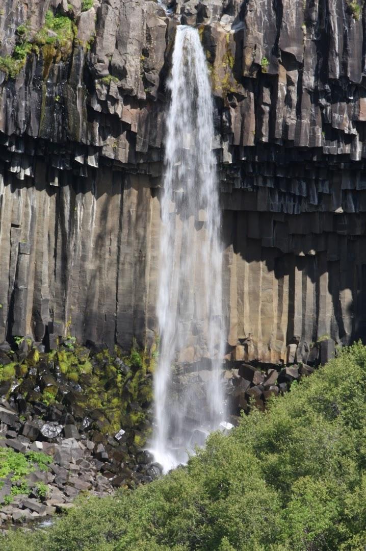 The famous Svartifoss falling from basalt columns