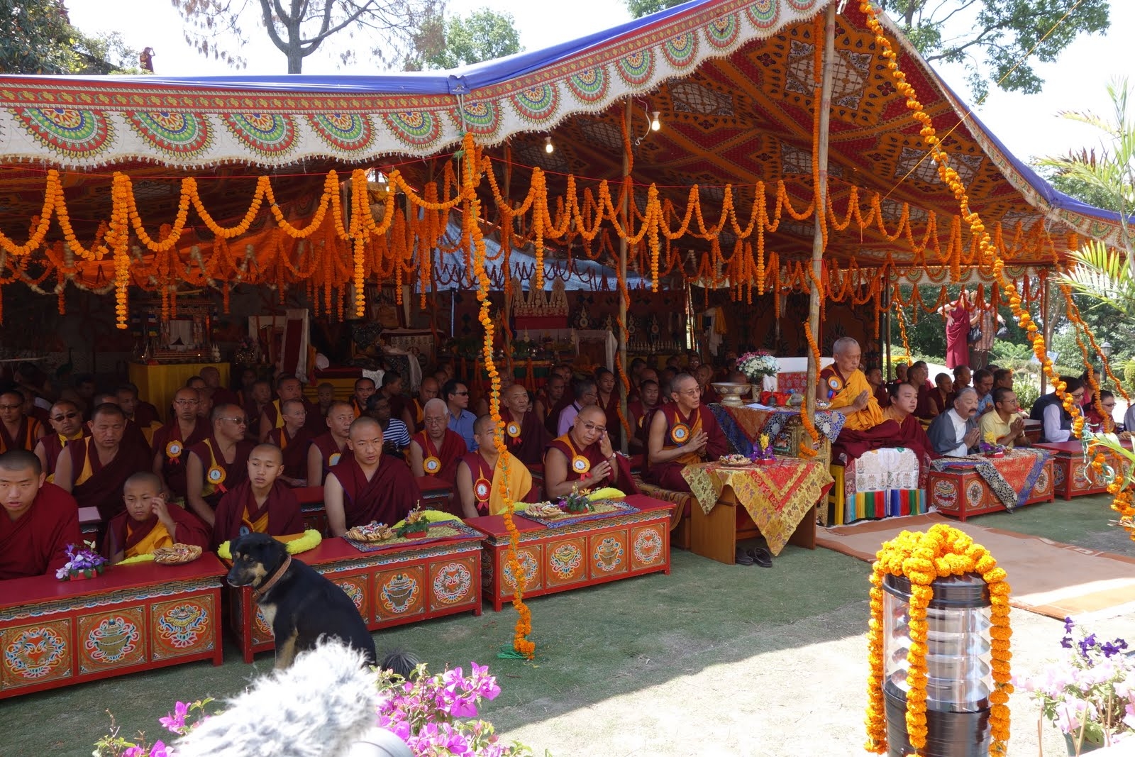 Khensur Lama Lhundrup's stupaconsecration at Kopan Monastery. May 3, 2013. Photo by Ven. Roger Kunsang