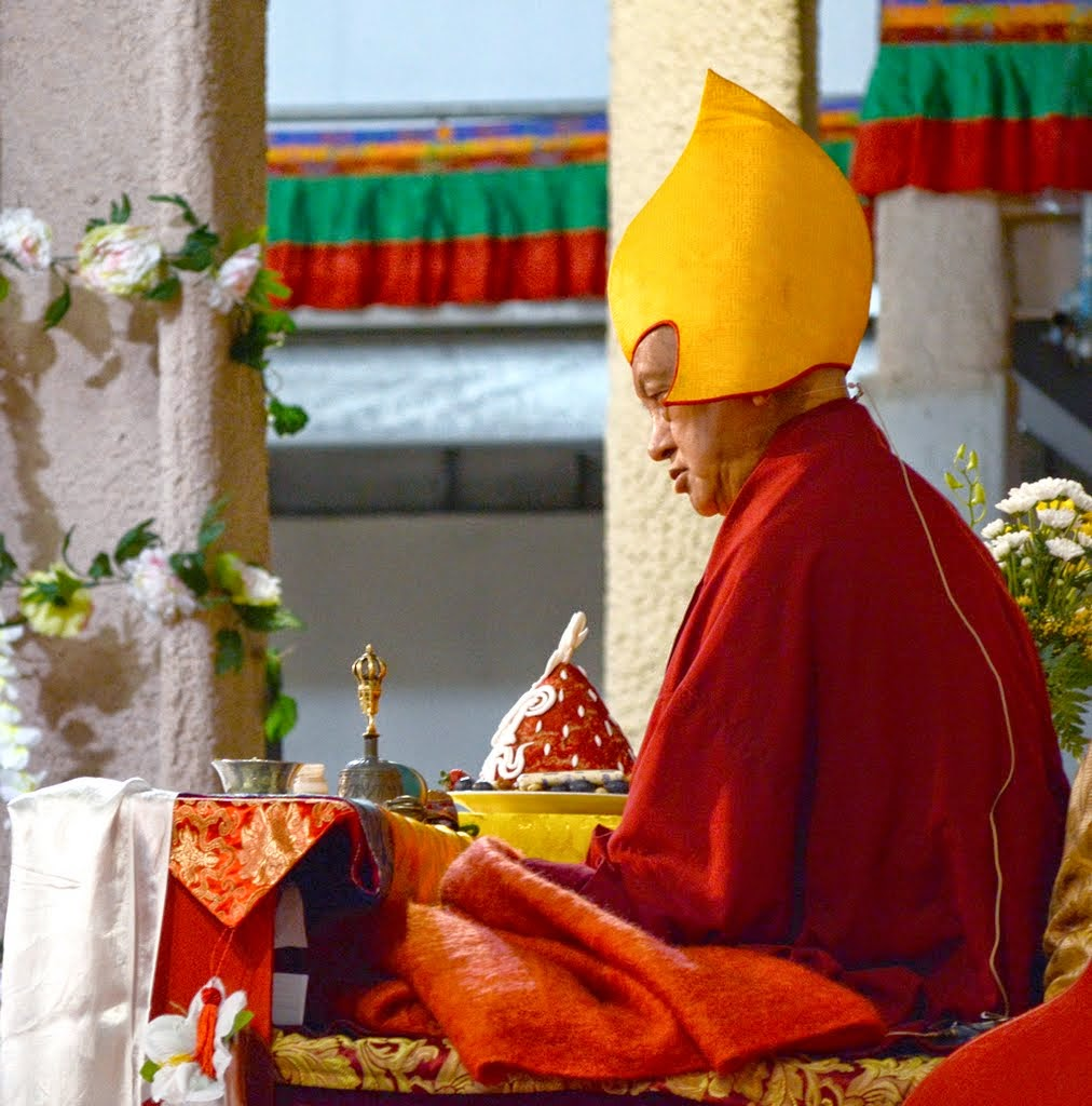 Lama Zopa Rinpoche during the CPMT long life puja, Australia, September 2014. Photo by Kunchok Gyaltsen.