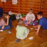 Hry v tělocvičně toušeňské školy