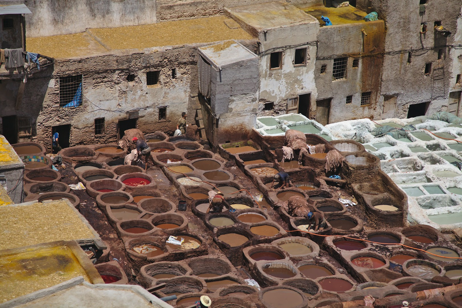 The famouse tanneries of Fes