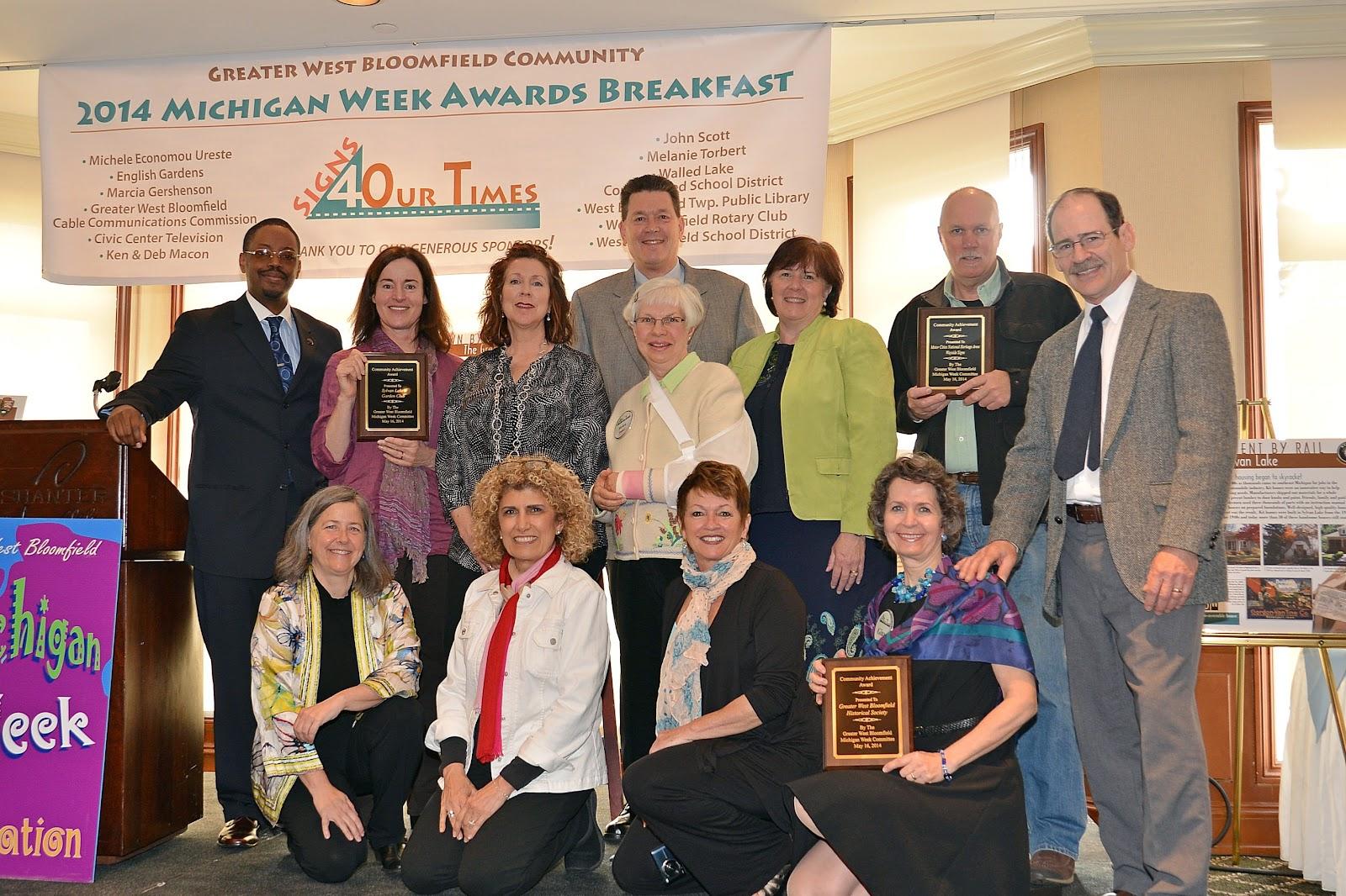 Greater West Bloomfield Michigan Week Community Awards Breakfast