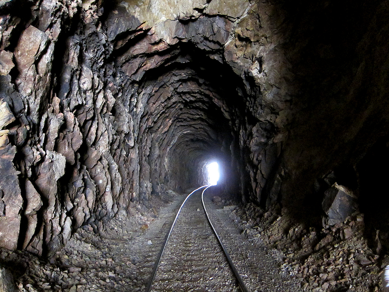 "This is where the expression ""Light at the end of the tunnel"" comes from. :-)"