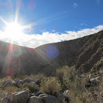 Brilliant afternoon sun over Buckhorn Ridge