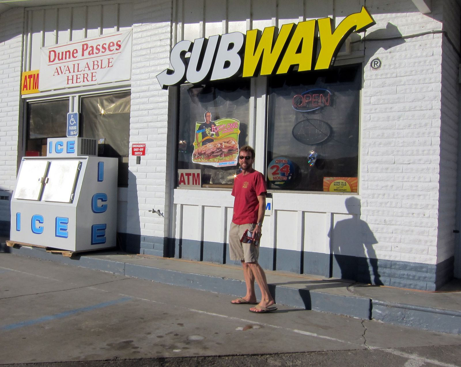 Our traditional stop at the Subway in Jacumba
