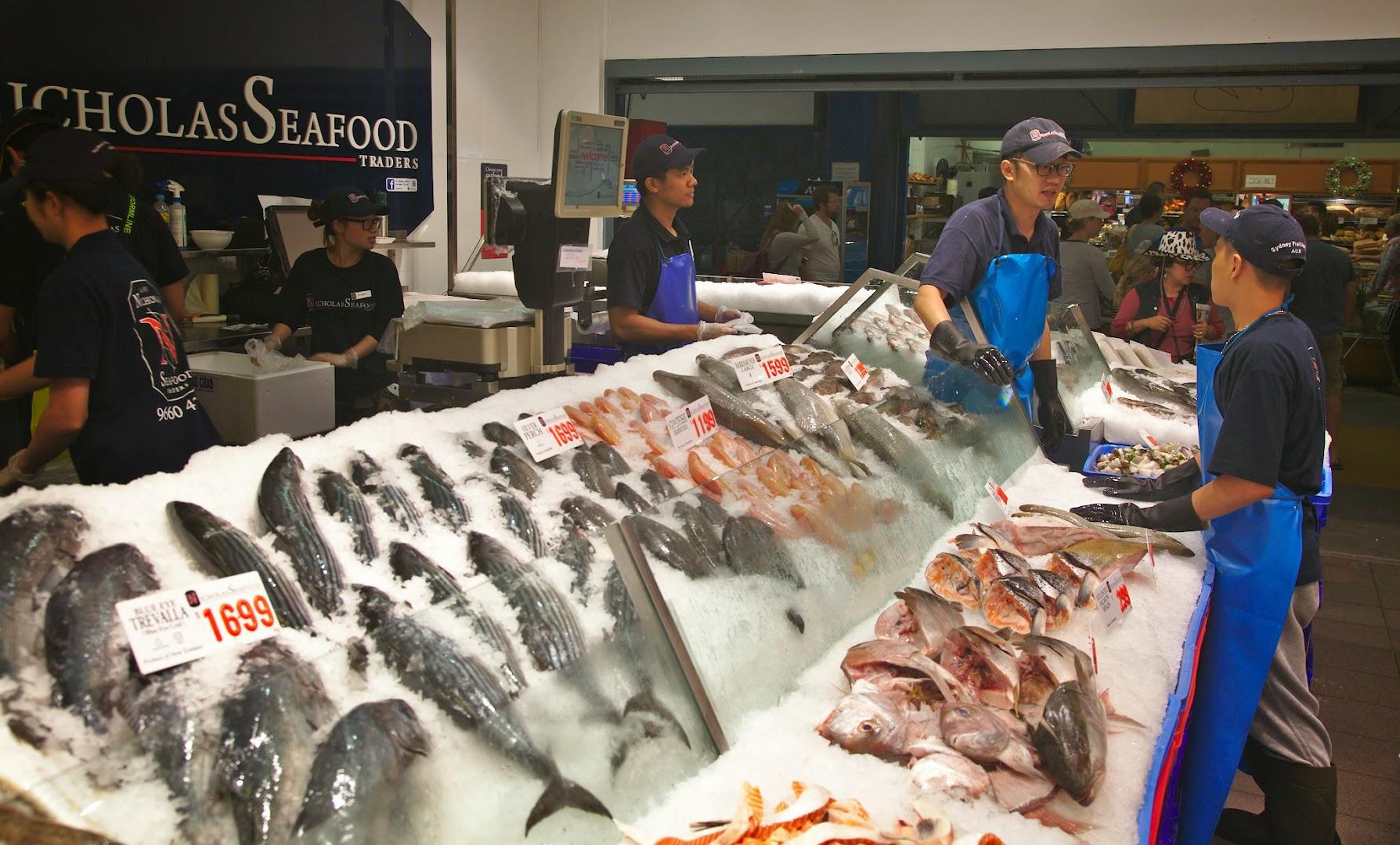 Sydney fish market at 6am on the NYE