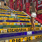 Escadaria Selaron was made by a Peruvian artist