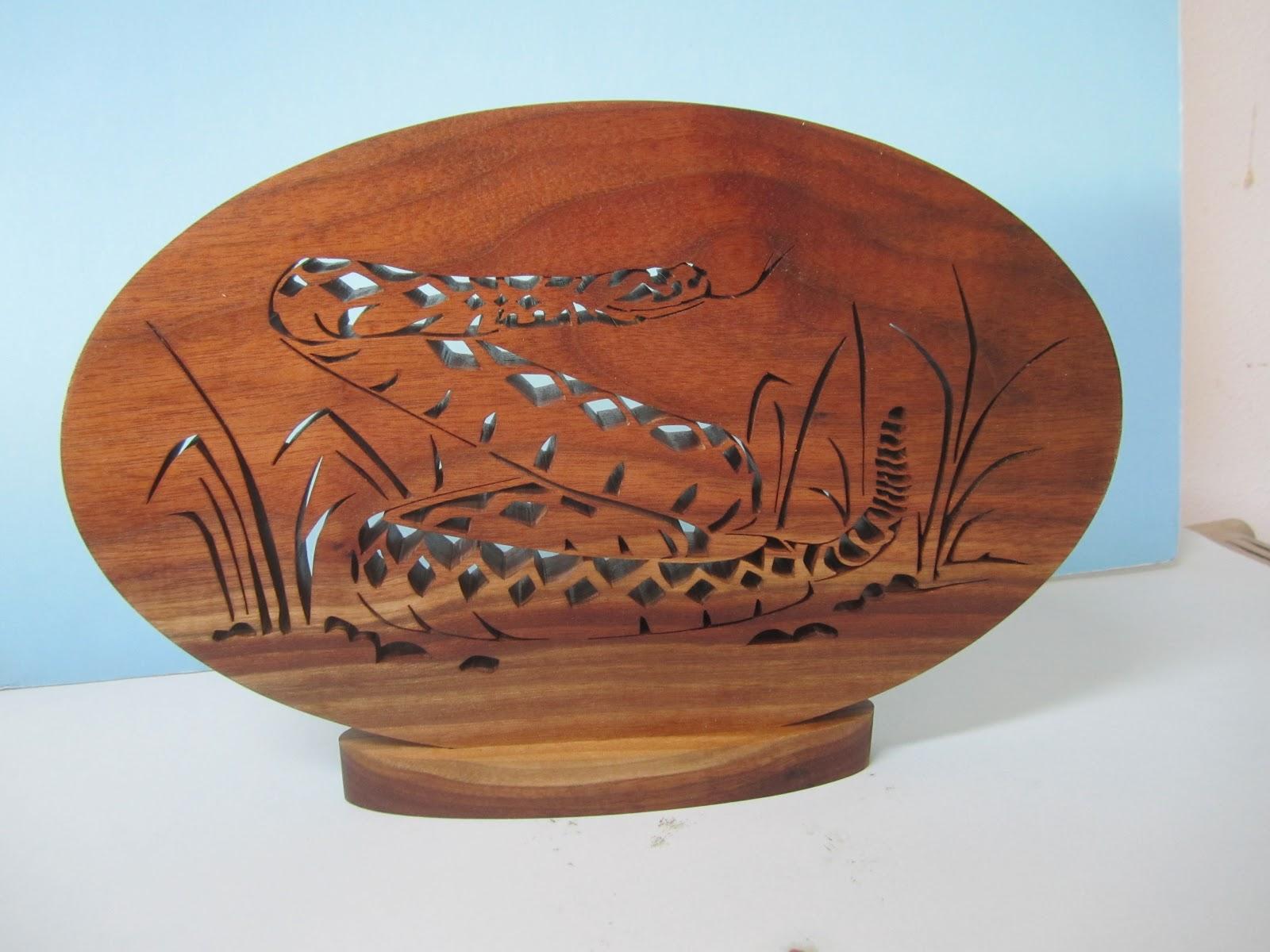 Diamondback Rattlesnake Black walnut Jacob Fowler Creative woodworks September 2009
