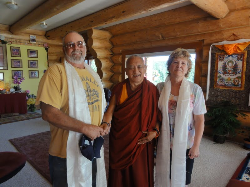 Mike Ray and his wife with Rinpoche