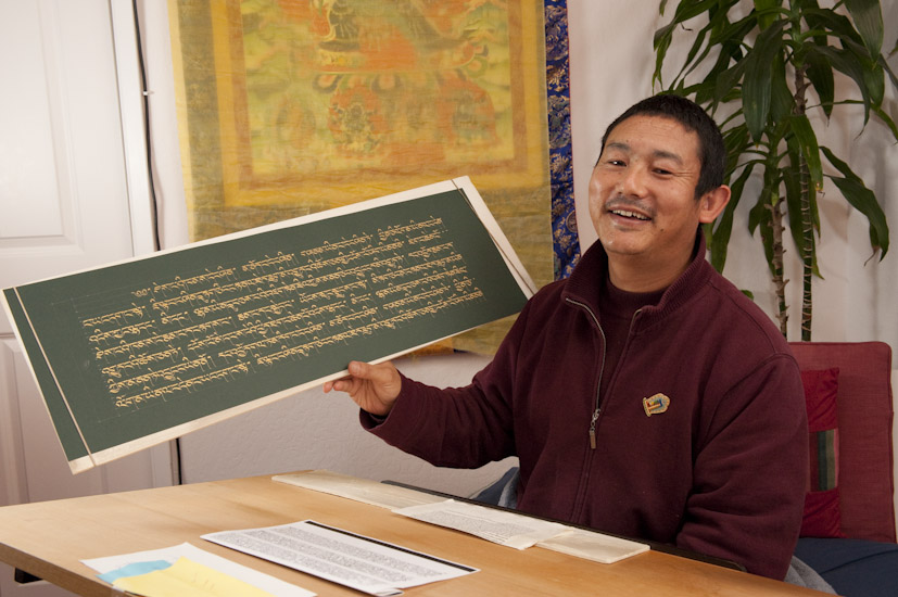 Supporting sangha writing the Prajnaparamita and other sutras