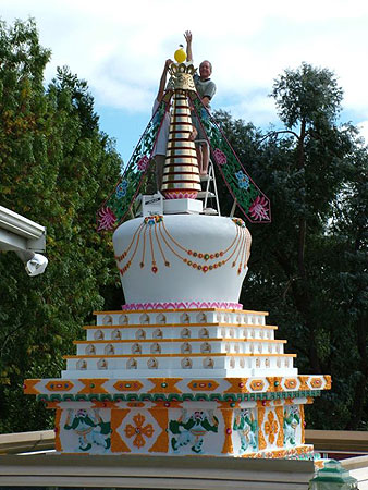 Auspicious Stupa with Many Doors at Dorje Chang Institute, Auckland, New Zealand.
