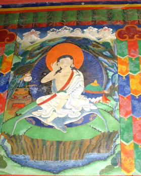 Milarepa Wall Painting