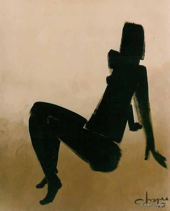022 - Mademoiselle Soleil -1992 92 x 73 - Acrylique sur toile