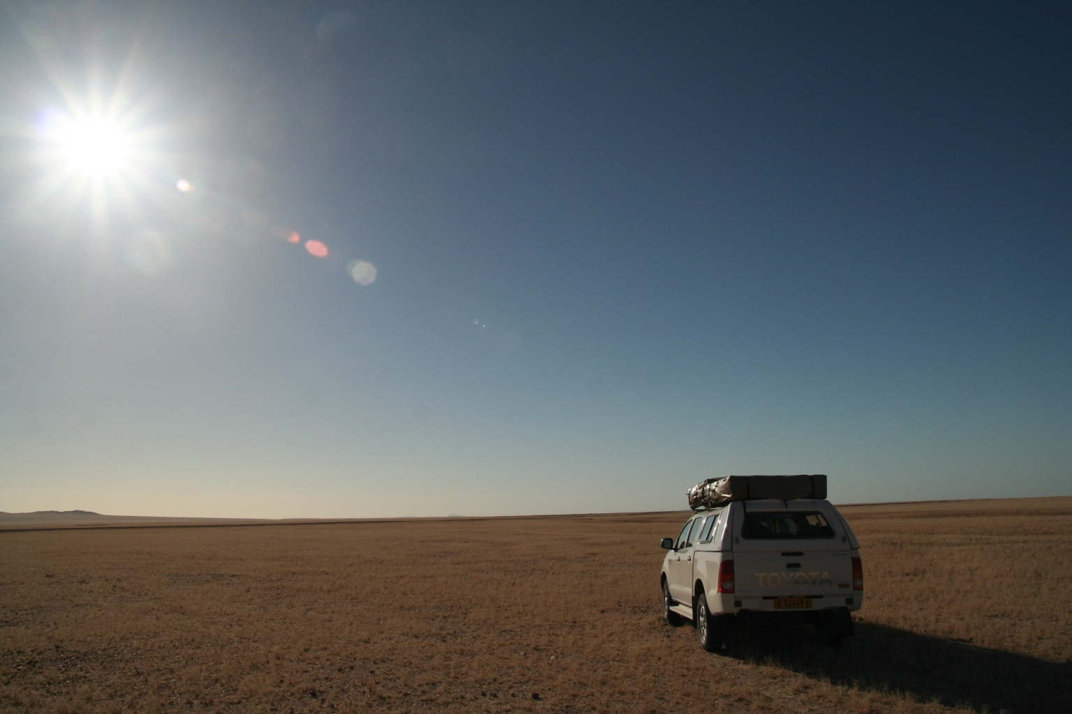 Burning Namib desert (or first off-road driving experience)