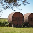 Huge wine barrels in Maipo