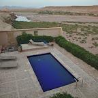 Pool and wine in desert - luxury stuff!