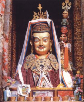 A large statue of Padmasambhava in Tibet that Lama Zopa Rinpoche often uses as an example