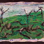 post-confrontation (resolution); oil on canvas; 1996