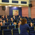 Débat avec le public (De dos et de g. à dr.: Marianne GAILLARD, Bruno BOUDIER, Directeur Fondation Bartimée, et Adeline STERN)