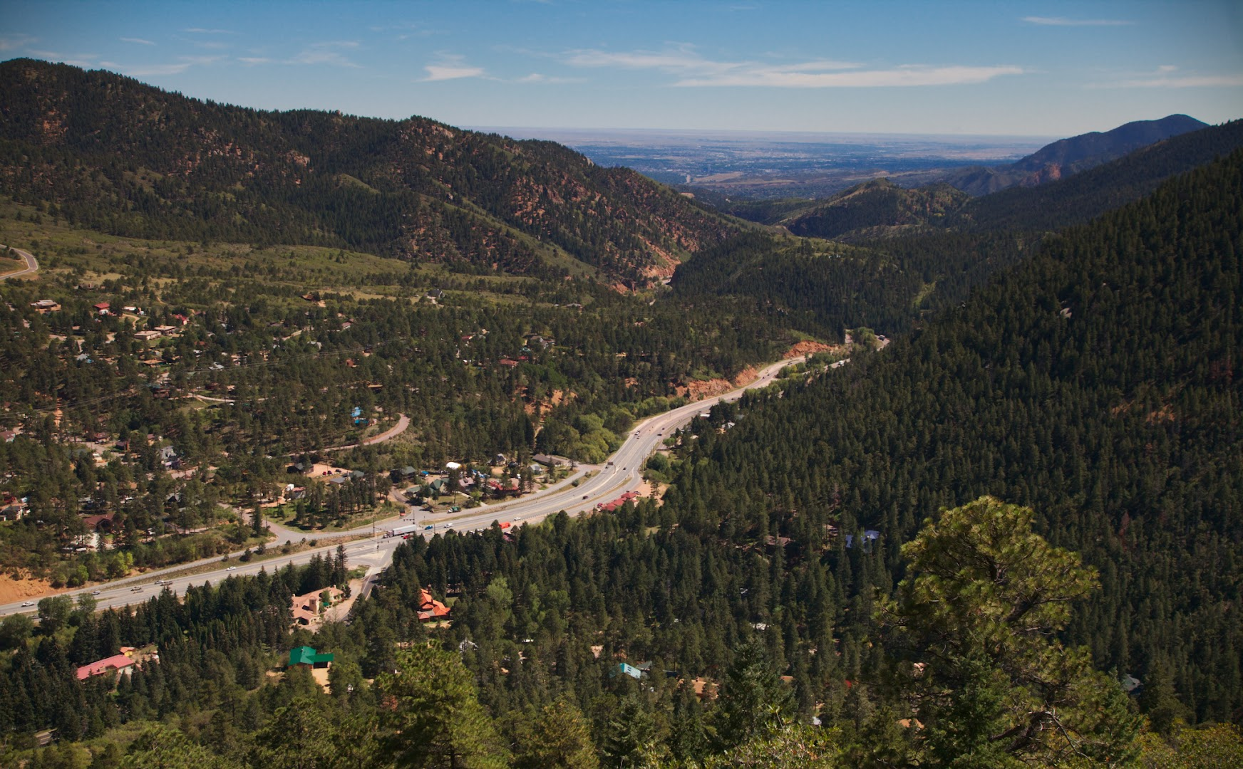 I-70 in the beginning of the Rockies follows ancient Indian path