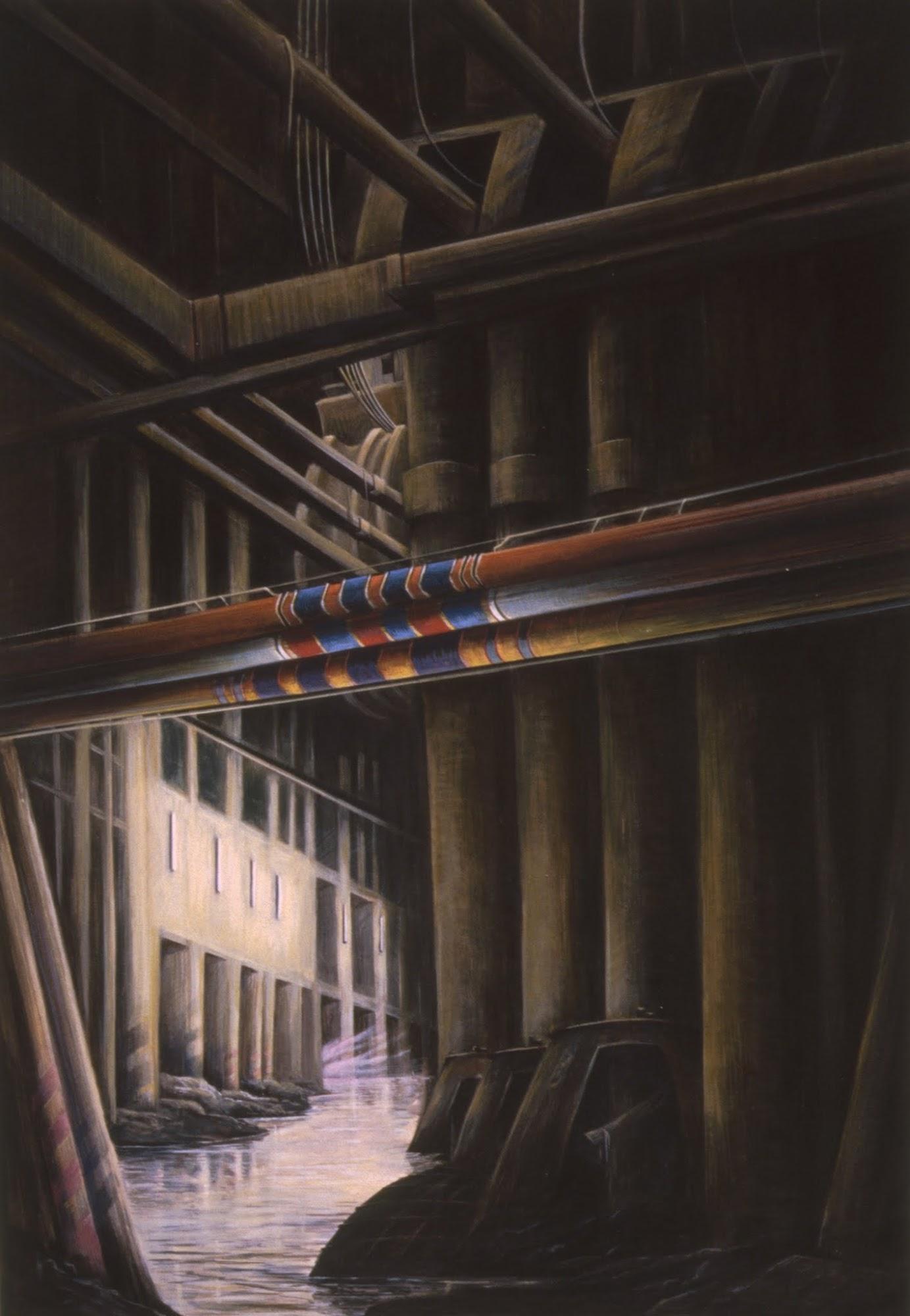 Eine Reise in vier Bildern / 2   1981   Eitempera auf Papier   48 x 33 cm