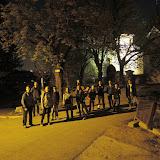 O chvíli později jsme již před kostelem sv. Václava ve Všenorech a pokračujeme dále
