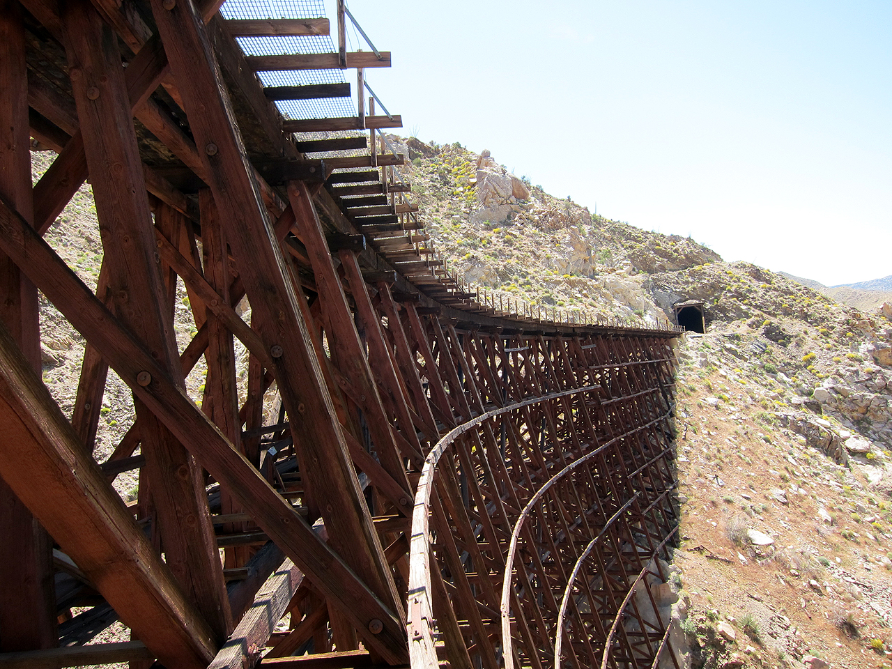 View looking south from under the Goat Canyon Trestle