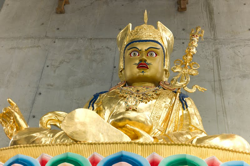 Guru Rinpoche statue at Great Stupa of Universal Compassion near Bendigo, Australia. Photo by George Manos. (Not built by the Padmasambhava Project.)