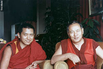 Lama and Rinpoche in Geneva 1983